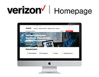 Verizon Enterprise Homepage Redesign