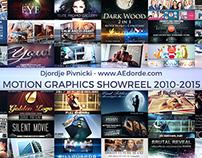 ShowReel 2010-2015 AEdorde.com