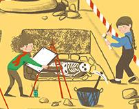 Arqueologia na Rua das Ameias