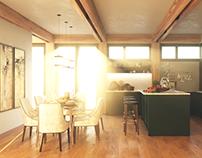 Italian half-timbered house in progress
