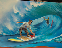 Surfboard, Trick Art Exhibition, Israel, 2017