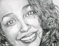 Retrato a lápis - Andrezza Eloy