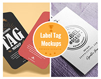 10 Best Label Tag Mockups