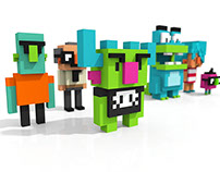 Voxel Cartoons V1