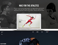 NIKE for Athletes: A web concept design