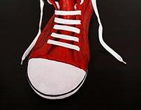 Versions of shoe sculptures
