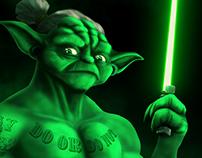 Buff Yoda | Digital Painting