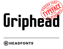 Griphead Modern Condensed Font