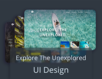 Explore The Unexplored - UI Design Challenge