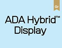 ADA Hybrid™ Typeface