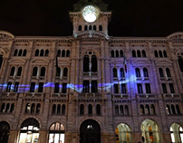 Projection mapping at Trieste ( 12-2015 )