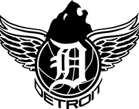 "Detroit Sports Mashup logo ""Detroit Rising"""