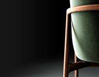 3D model Regular Company - Neva Lounge armchair