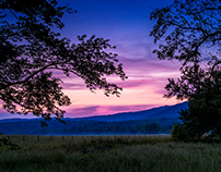 Sunset - Cades Cove - Great Smoky Mountains