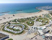 Ashkelon coast line, Israel