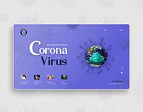 Corona Virus UI concept.