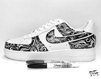 NIKE AIR FORCE 1 CUSTOM DESIGN