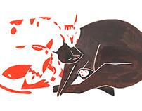 editorial illustration - My love