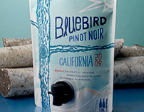 Bluebird (Home Team Wines) Pouch Wine & Logo Design