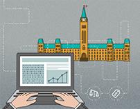 Illustration set for IDC Canada