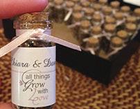 Wedding Labels for Chiara & Daniel