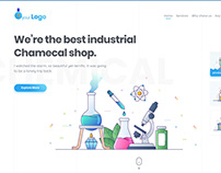 Industrial Chemical Shop website template U