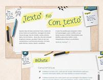 Ferramenta educacional Texto no contexto
