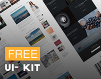 Dyk- Blog UI Kit (FREE DOWNLOAD)