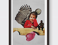 Arab Child (Handmade Collage)