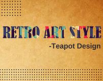 Retro Art Style - Teapot Design
