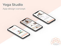 Yoga Studio - App design concept