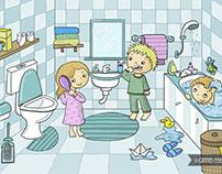 Kids in the Bathroom Scene
