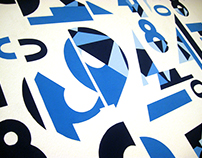 Typo Wall Art / Office Mural