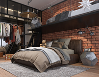 Kids Bedroom_Interior design & CGI, Russia