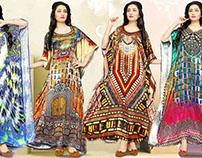 Ladies Kaftans: Long Plus Size Indian Kaftan Caftan Max