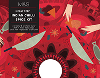 Illustrated Spice Packaging
