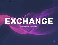 Exchange landing page