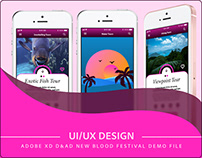 Adobe XD: Demo file for D&AD new blood festival London