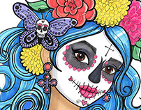 Sugar Skull Girls for Dia De Los Muertos