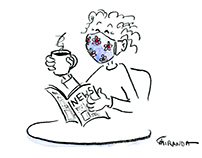 Pandemic Attire - Funny Line Art