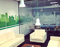 London Office Glass & Wall Designs (Schneider Electric)