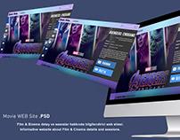 Film Web Sitesi / Movie Web Site (in Photoshop)
