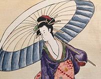 Estampa Japonesa Geisa