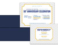 Alpha Xi Delta Anniversary Invite