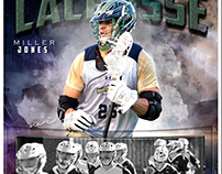 Lacrosse sports memorymate photography template