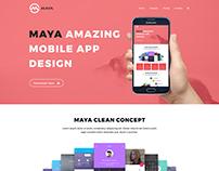 MAYA - Responsive App Landing Page