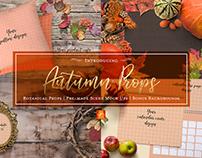 50+Autumn Props & 4 Pre-made Scene Mock Ups