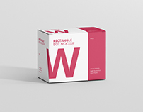 Box Mockup - Wide Rectangle Big Size