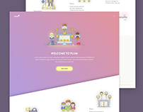 """Plum"" - Landing page design"