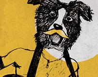 Poster illustration mad dog